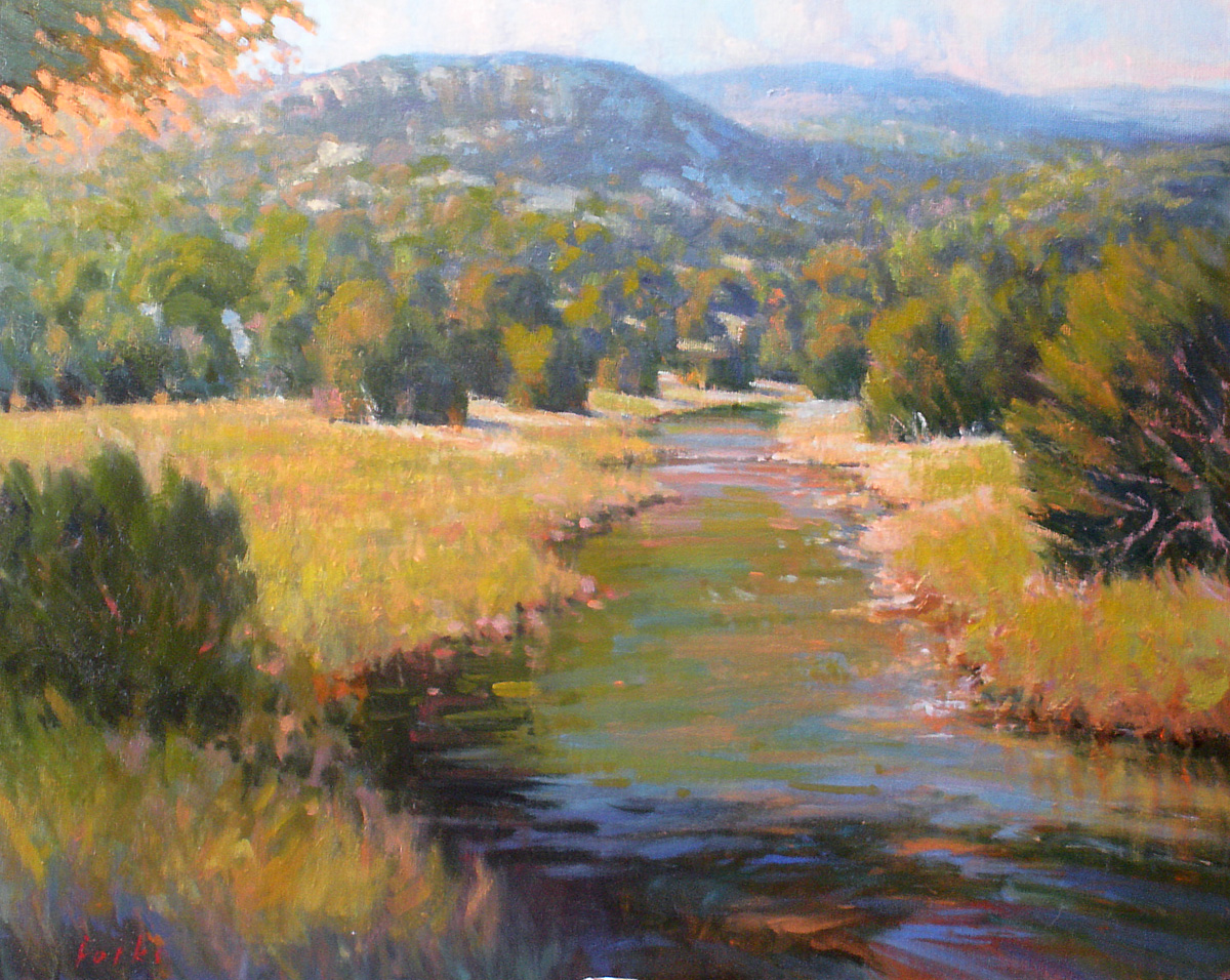 """Peaceful Morning"" original fine art by David Forks"