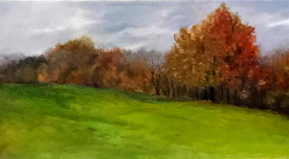 """fall colors on top of the ridge"" original fine art by Betty Argiros"