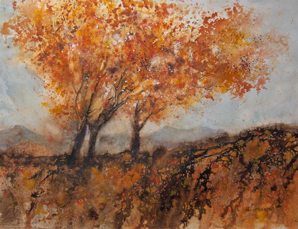 """Fall Glory"" original fine art by Jean Lurssen"
