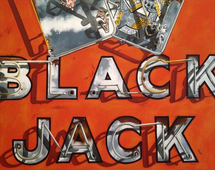 """BlackJack"" original fine art by Jelaine Faunce"