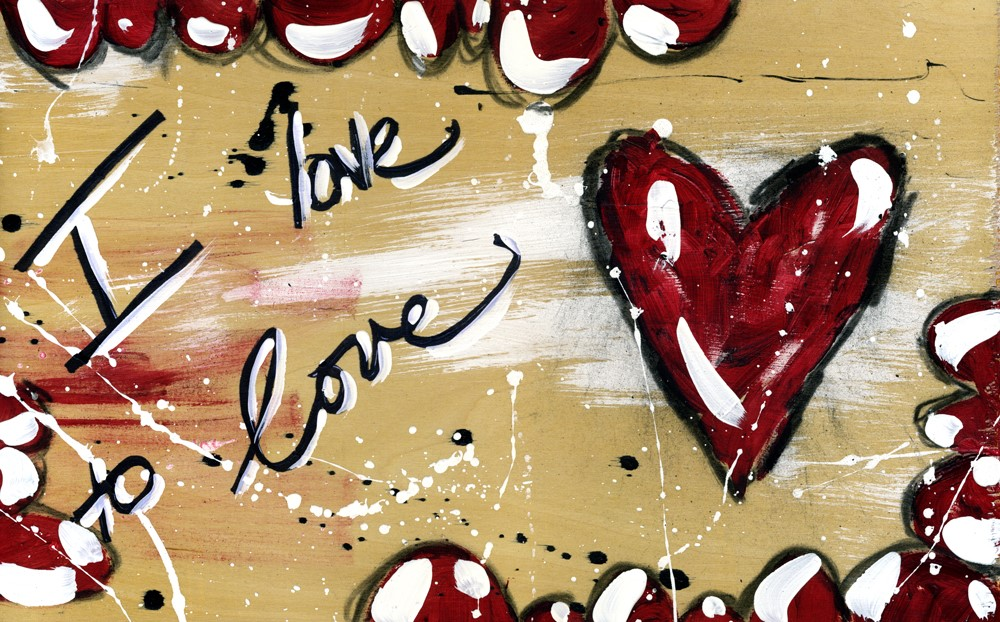 """I Love to Love"" original fine art by Kali Parsons"