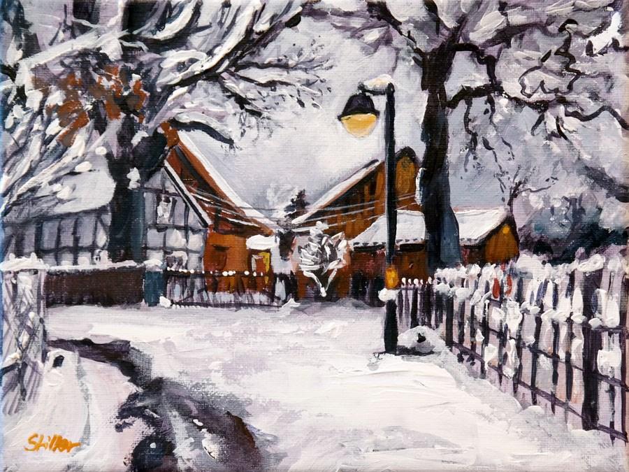 """""""1616 Snow Romance"""" original fine art by Dietmar Stiller"""