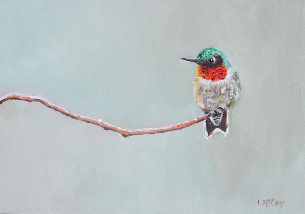 """Out on a Limb, Hummingbird"" original fine art by Linda McCoy"