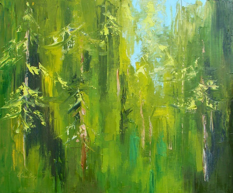"""Mystry Forest"" original fine art by Laura  Buxo"
