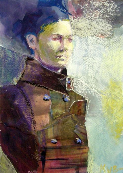 """Double Breasted Coat"" original fine art by Katie Wilson"