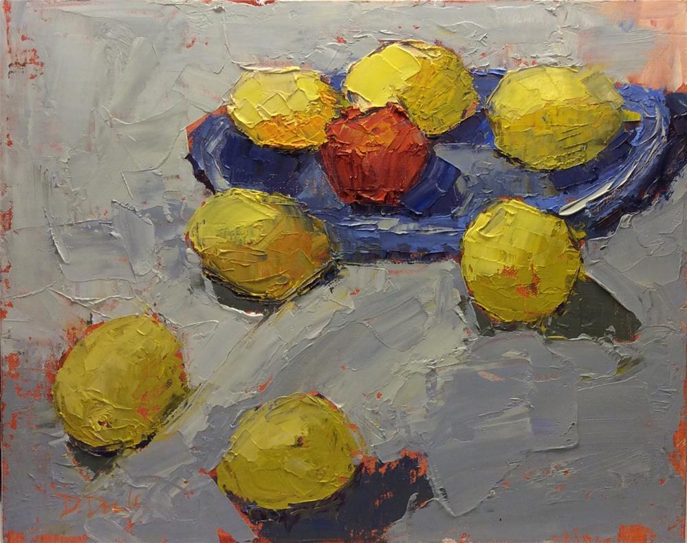 """One Bad Apple"" original fine art by Debbie Dowdle"
