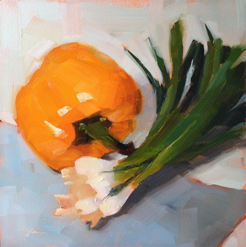 """Pepper and Green Onions"" original fine art by Katia Kyte"
