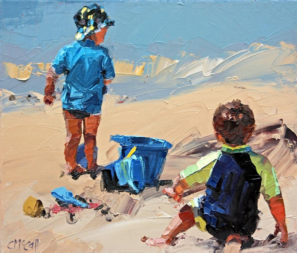 """""""Sand Play Petite II"""" original fine art by Claire McCall"""