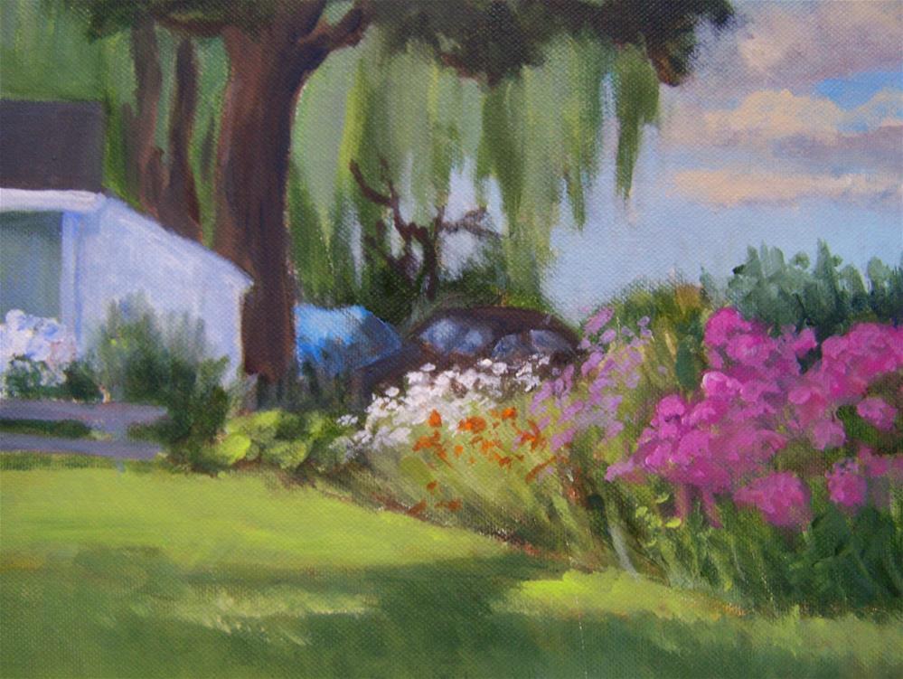 """Summer Garden"" original fine art by Joan Reive"