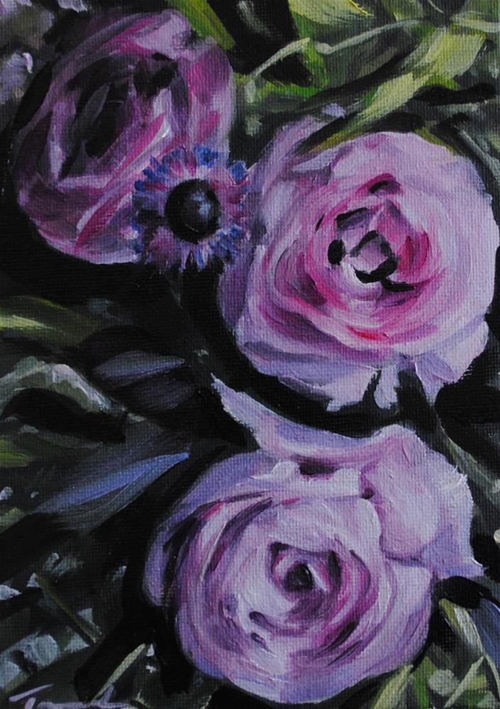 """Purple Petals"" original fine art by Tamanda Elia"
