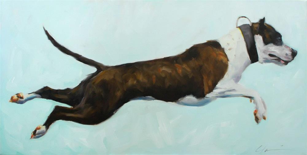 """Rocket Dog"" original fine art by Clair Hartmann"