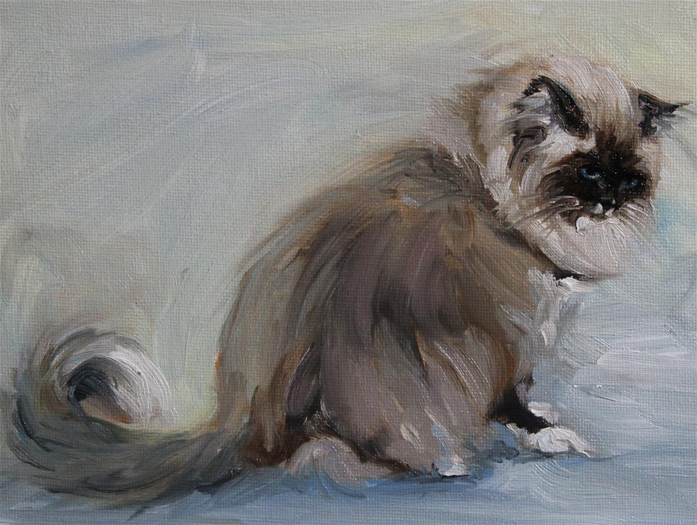 """Sad Ragdoll"" original fine art by H.F. Wallen"