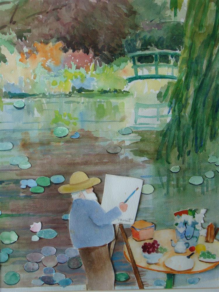 """Giverny"" original fine art by meribeth coyne"