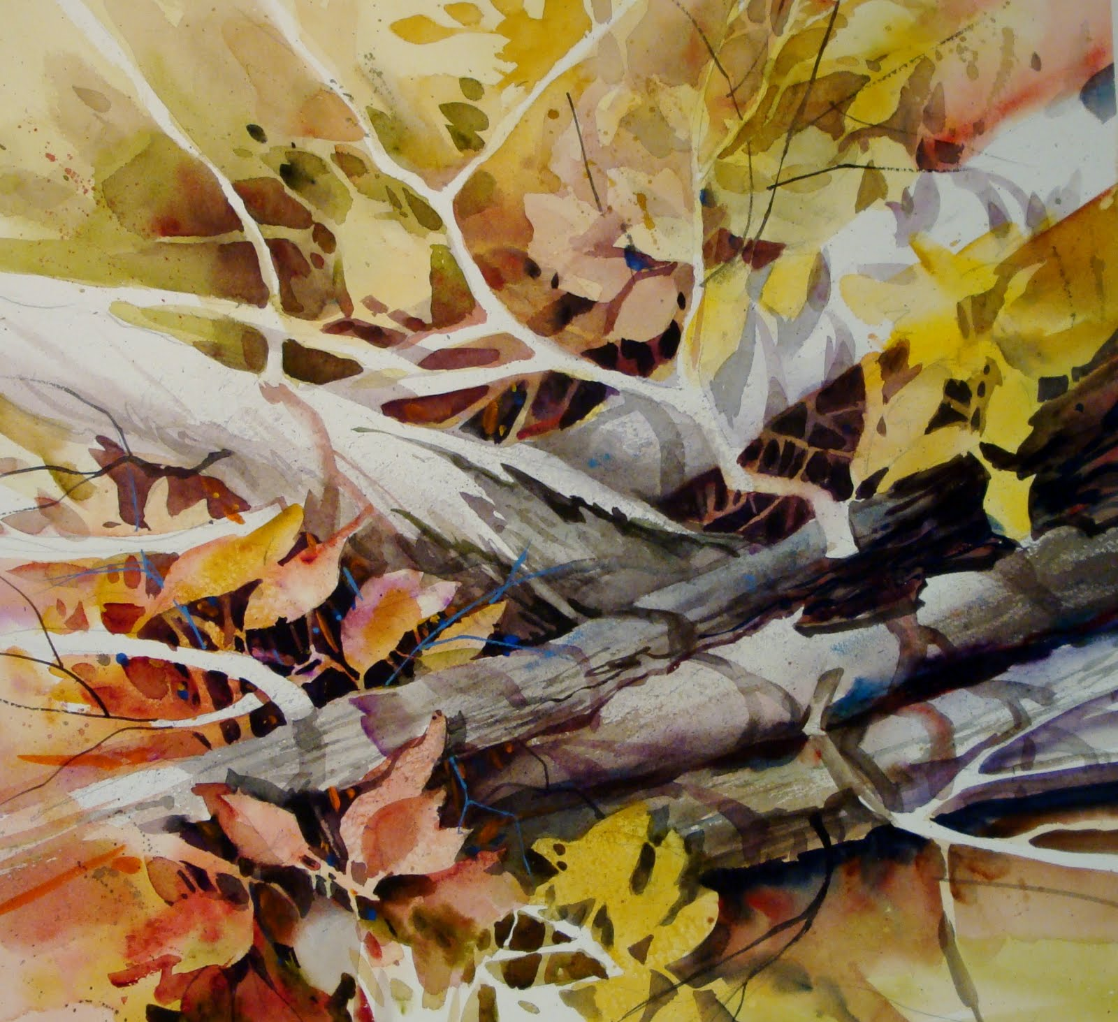"""Limbs and Leaves"" original fine art by Kathy Los-Rathburn"
