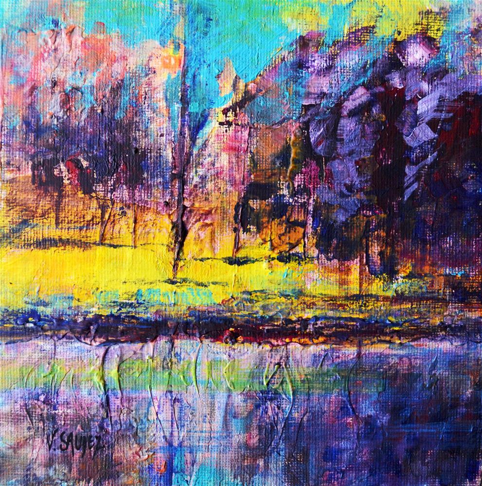 """A nice day"" original fine art by Véronique Saudez"