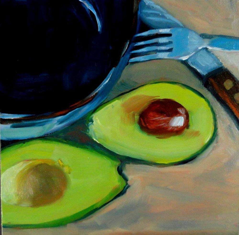 """Making Guacamole"" original fine art by Cietha Wilson"