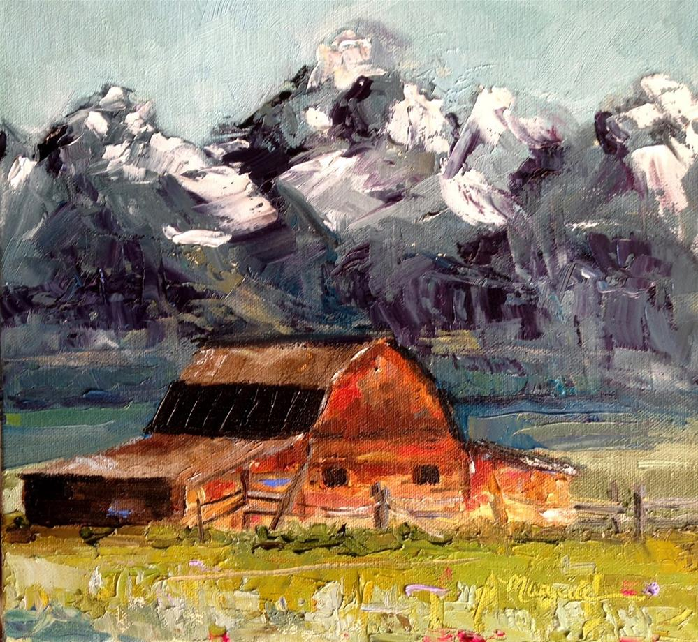 """The Old Barn"" original fine art by Marcia Hodges"