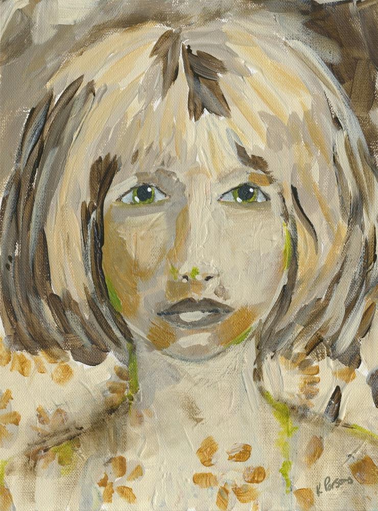 """Eyes of Green"" original fine art by Kali Parsons"