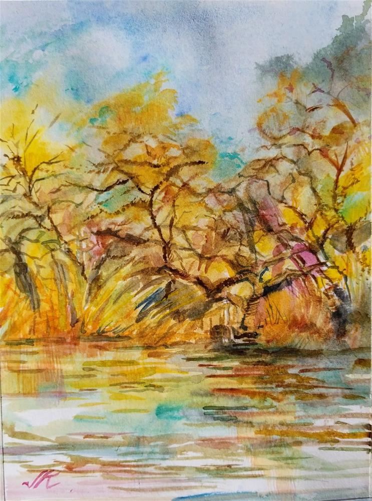"""Oak Creek, Cornville, AZ"" original fine art by Jean Krueger"