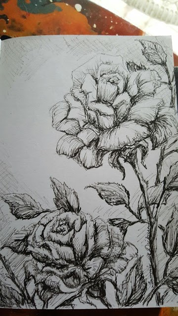 """""""Roses in Ink"""" original fine art by Tammie Dickerson"""
