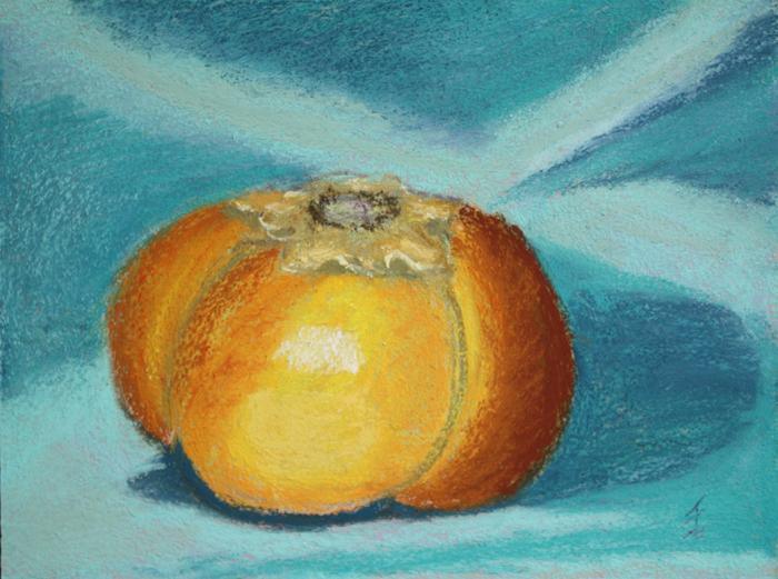 """Persimmon"" original fine art by Jane Frederick"
