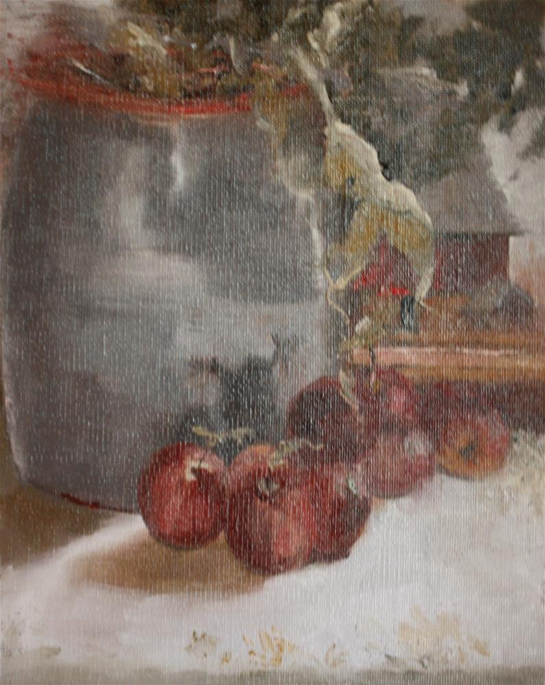 """Plymouth Apples"" original fine art by Pamela Sweet"