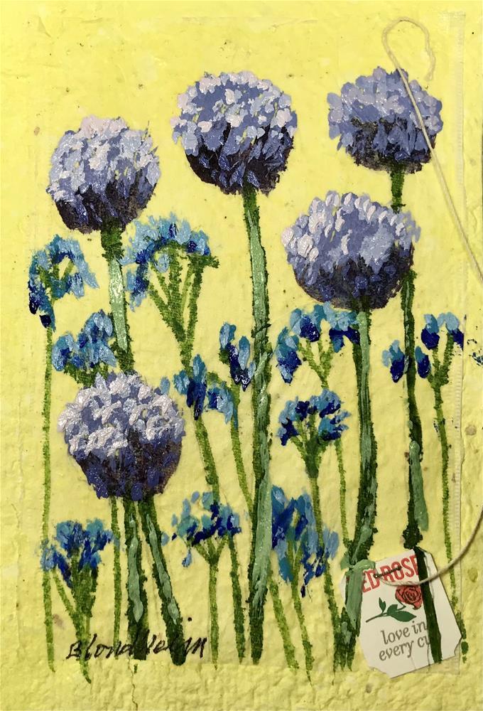 """Allium Blossoms"" original fine art by Linda Blondheim"