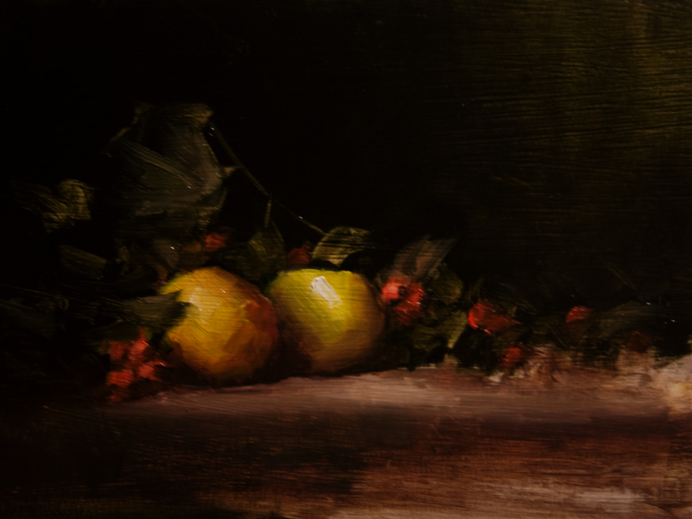 """Windfall Apples"" original fine art by Neil Carroll"