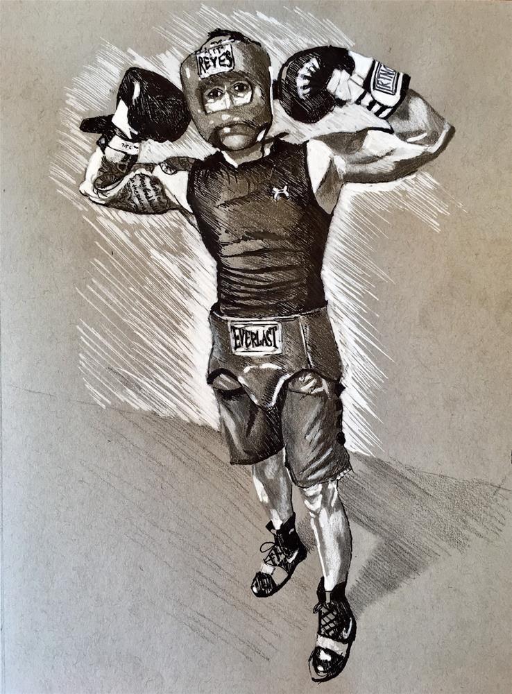 """Boxer"" original fine art by Piya Samant"