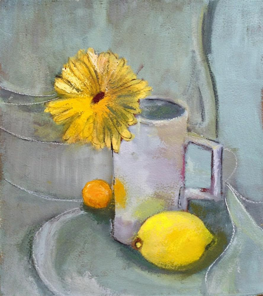 """Study in Yellow"" original fine art by Carol Wiley"