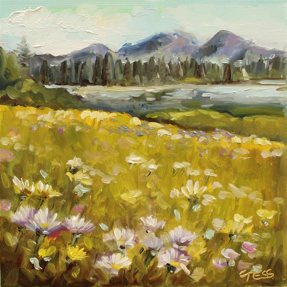 """""""Wildflower- JaneDear Girls"""" original fine art by Tess Lehman"""