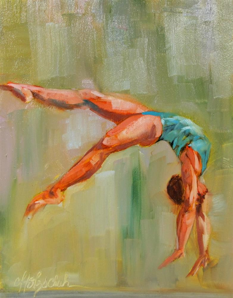 """Tumbling"" original fine art by Christine Holzschuh"