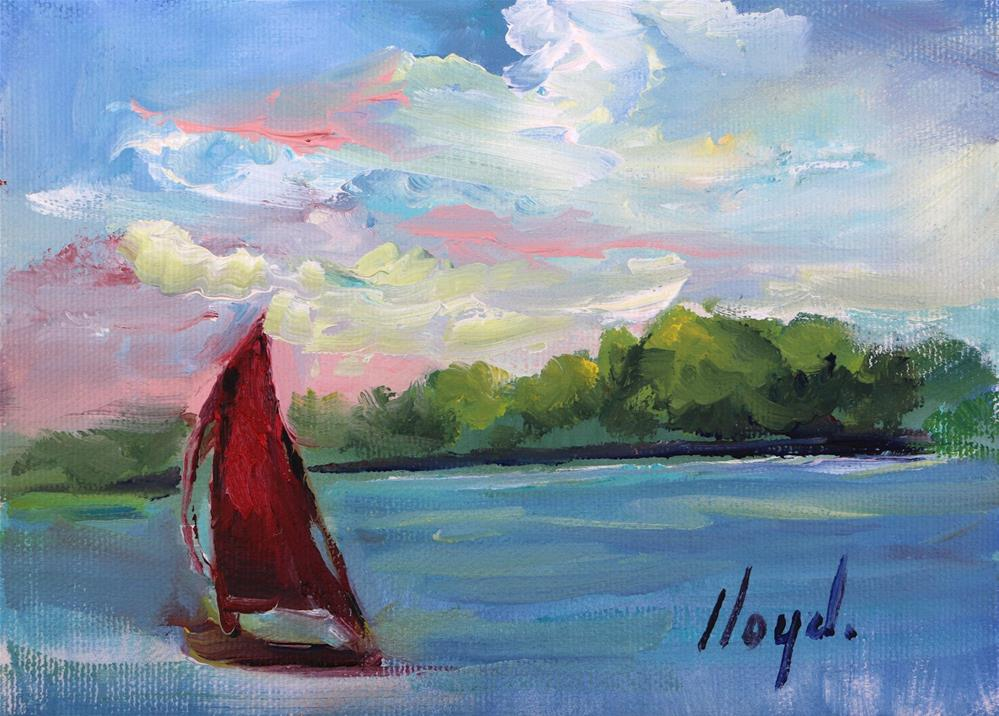 """Sailing"" original fine art by Diane Lloyd"
