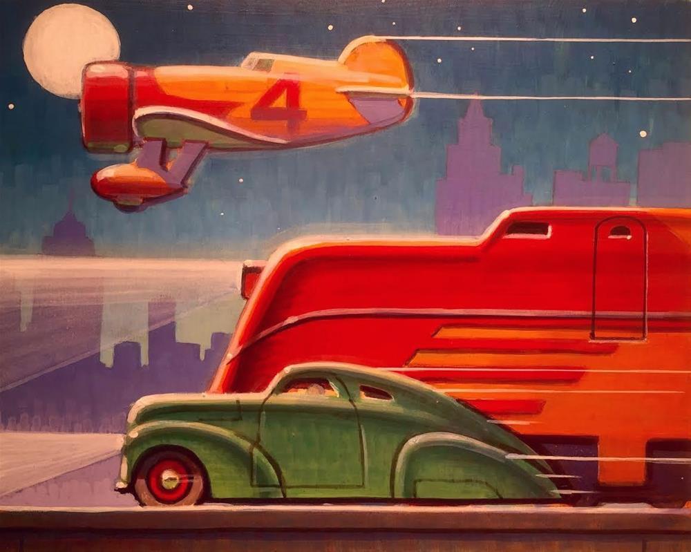 """Traffic"" original fine art by Robert LaDuke"