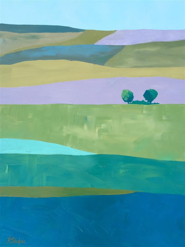 """Fields Of Color"" original fine art by Janet Bludau"