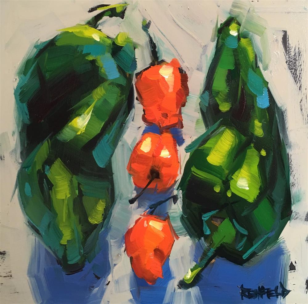 """Dreaming Of Peppers"" original fine art by Cathleen Rehfeld"
