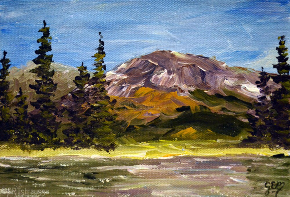 """SALE!!!Sparks Lake"" original fine art by Gloria Ester"