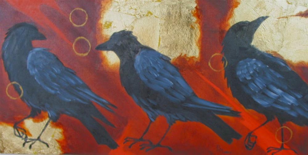 """The Three Conversations"" original fine art by Patricia Murray"