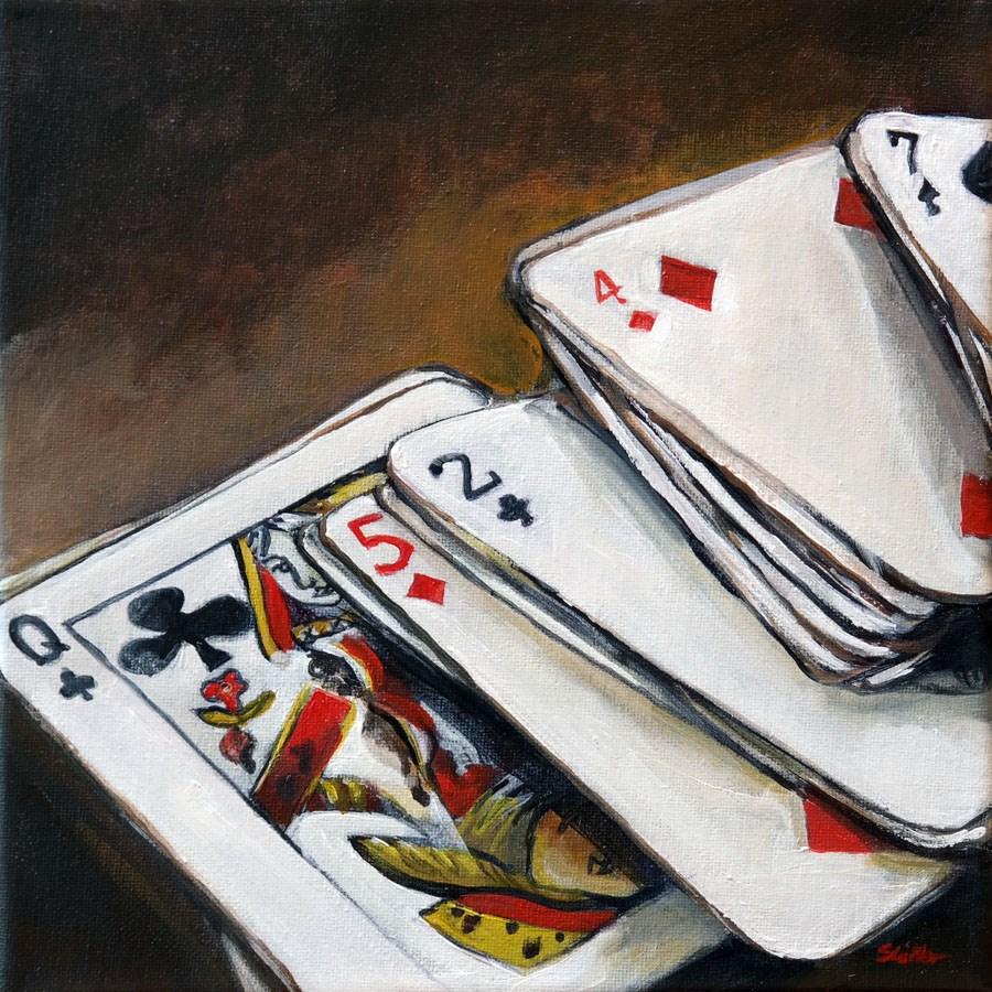 """""""1320 The Gambler"""" original fine art by Dietmar Stiller"""