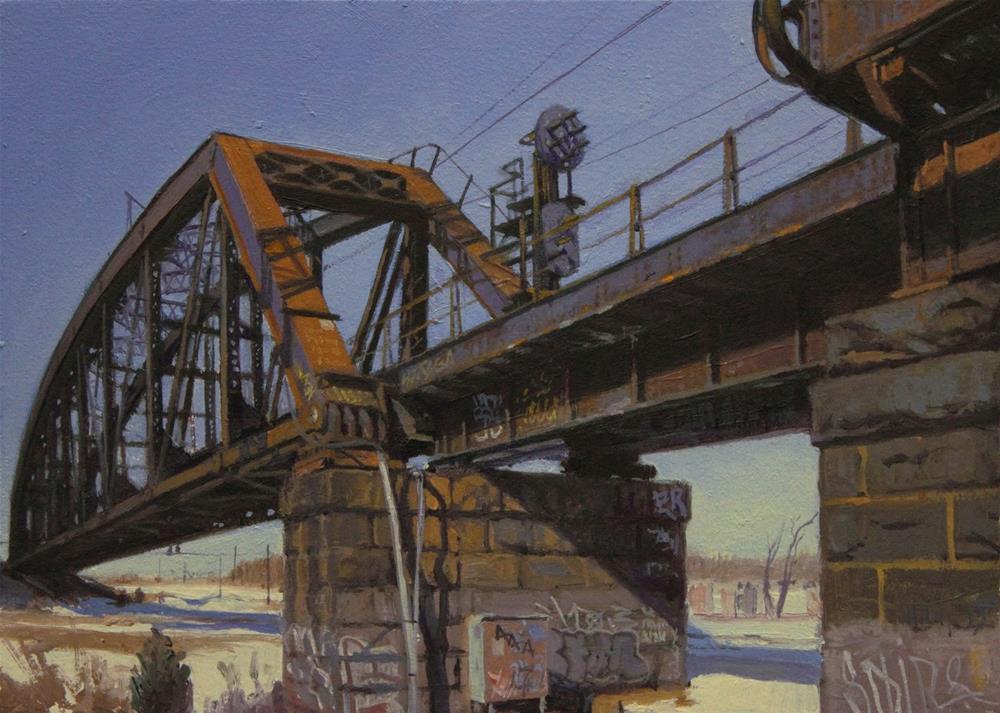 """Trestle Rust"" original fine art by Ski Holm"