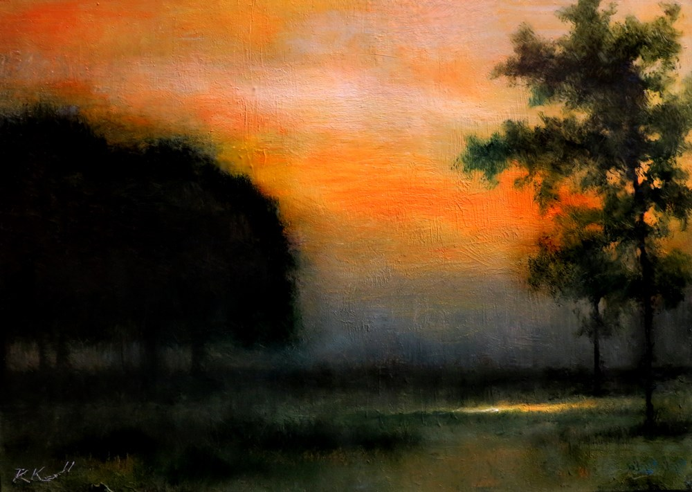 """A Warm Sunset"" original fine art by Bob Kimball"