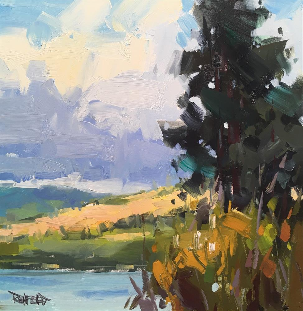 """""""Columbia Gorge Fall Afternoon"""" original fine art by Cathleen Rehfeld"""