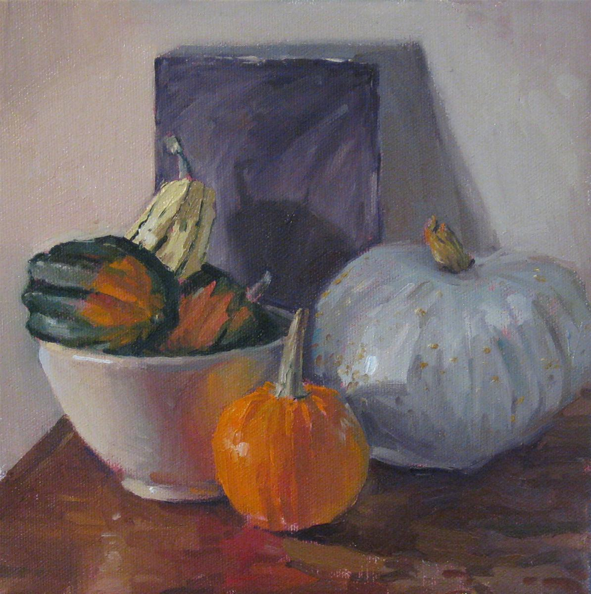 """Pumpkin in the Middle"" original fine art by Sarah Sedwick"