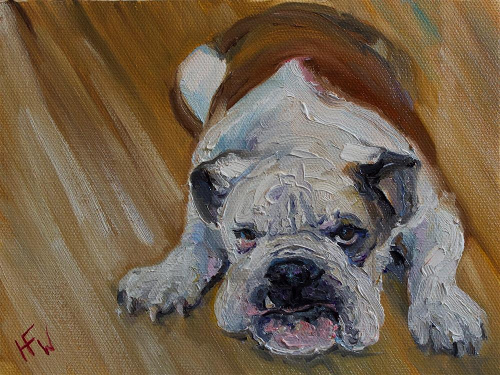 """Mr. Grumpy Face"" original fine art by H.F. Wallen"