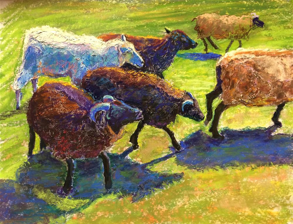 """Greener Pastures"" original fine art by karen israel"