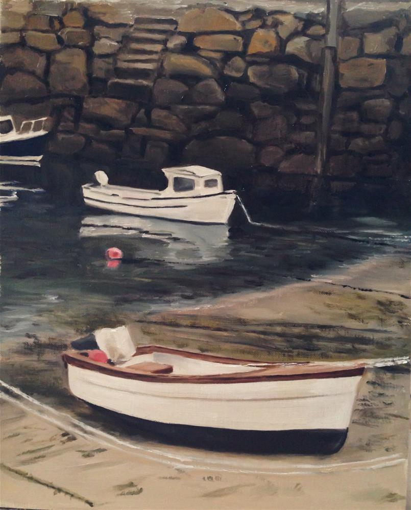 """Mousehole Harbour, Cornwall"" original fine art by James Coates"