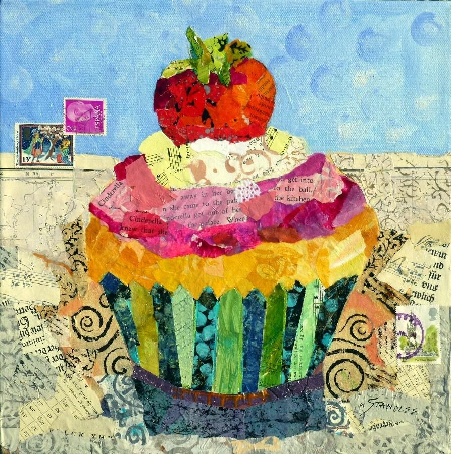 """Cinderella Cupcake: To the Ball 13071 SOLD"" original fine art by Nancy Standlee"