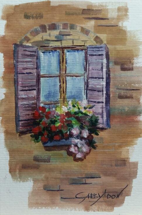 """Window"" original fine art by Gabriella DeLamater"
