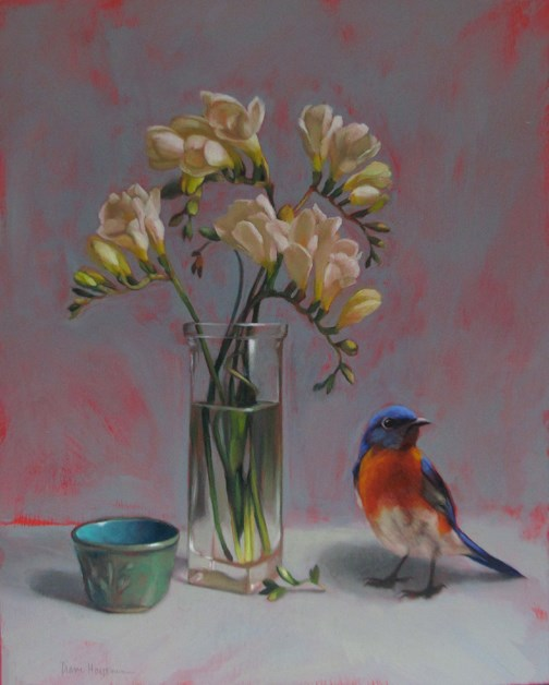 """""""I love my job and this Friday is 3rd Friday at 78th ST Studios"""" original fine art by Diane Hoeptner"""