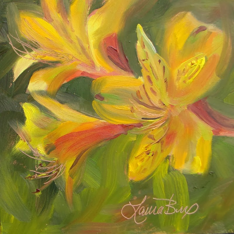 """""""Trumpeting the Arrival 115"""" original fine art by Laura  Buxo"""